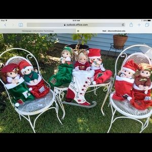 Precious Moments Annual Stockings with Dolls